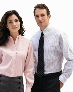 Van Heusen Men's 3.7 Ounce Cotton/Poly Blend Pinpoint Dress Shirt