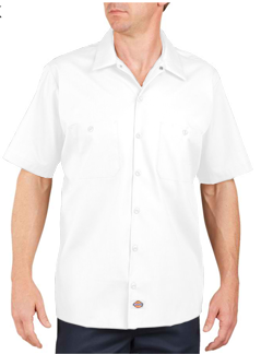 Dickies Adult 4.25 Ounce Short Sleeve Industrial Poplin Work Shirt